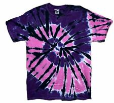 Pink, Purple, Black Swirl Short Sleeve Tye Dye t shirt NEW DESIGN