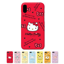 Hello Kitty Characters Protect Hard Slim Thin Bumper Case For Apple iPhone X 10