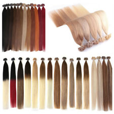 8A 1G Pre Bonded Keratin Nail U Tip Glue Remy Human Hair Extensions DOUBLE DRAWN