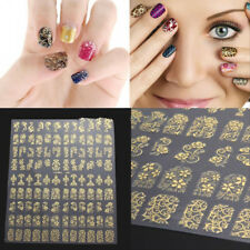 108Pcs Women 3D Flower Nail Art Stickers Decals Tips Stamping DIY Decor Manicure