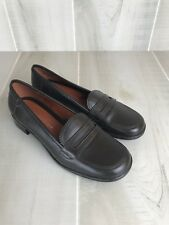 Tommy Hilfiger Women's Loafer Shoes Size 6 Dark Brown Leather