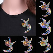 Fashion Cute White Gold Plated Crystal Animal Bird Brooch Pin Jewellery Women