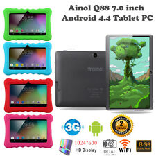 7inch Android 4.4 Quad Core 3G Wifi Bluetooth Dual Camera 8GB Kid Tablet PC+Case