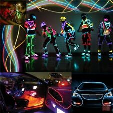 1M/5M Neon LED Light Glow EL Wire Rope Car Dance Party Decoration + Controller