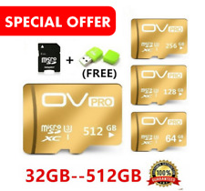 High Speed OV TF card 32GB-512GB Micro SD + Gifts ( Adapter + SD Card Reader)