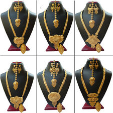 Necklace Indian Party Fashion Earrings Set 22K Golad Plated Bollywood Wedding