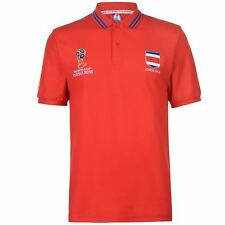 FIFA World Cup 2018 Costa Rica Polo Shirt Mens Red Football Soccer Top T-Shirt