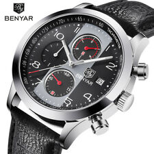 BENYAR Chronograph Watch Men Calendar Top Brand Luxury Mens Watches Quartz Sport
