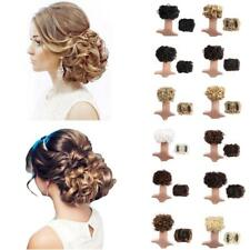 Women Comb Clip In Curly Hair Piece Chignon Hairpiece Extension Hair Bun Fashion