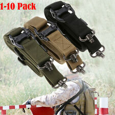 10x Adjustable Tactical 2Point Rifle Gun Sling Dual Bungee Strap Metal Snap Hook