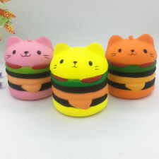 Scented Squishies Hamburger Cat Slow Rising Cartoon Bread Toy Stress Relief Toy