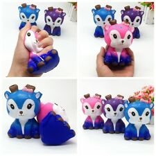 Soft Blue Pink Purple Deer Cream Scented Squishy Slow Rising Squeeze Kids Toy