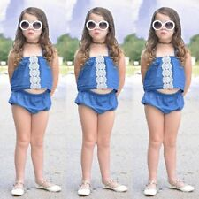 Toddler Kids Baby Girls Tank Tops+Pants Shorts Summer Outfits Clothes 2PCS Set