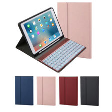 """Bluetooth Keyboard Backlit Leather Case for New iPad 9.7"""" 2017 2018 Air/Air 2"""