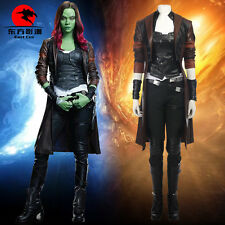 Guardians of the Galaxy Vol. 2 Gamora Cosplay Costume Leather Long Coat