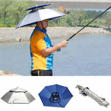 Umbrella Hat Foldable Hiking Mountaineering Ultraviolet-proof Golf Brand New