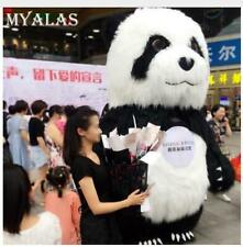 2.6m/3m Advertising Adult Inflatable Panda Bear Mascot Costume Suit Dress Outfit