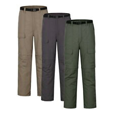 Mens Trousers Quick Dry Lightweight Outdoor Fishing Hiking Cargo Work Pants GIFT