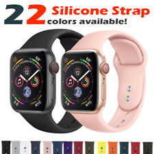 Replacement Band 38mm 42mm Sports Silicone Strap for Apple Watch Series 4 3 2 1