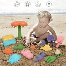 10/16Pcs Baby Kids Beach Toys Swimming Wash Play Cartoon Colorful Cute Tools,