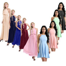 Women Bridesmaid Wedding Evening Cocktail Party Prom Ball Gown Long Short Dress