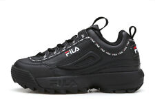 FILA Womens Disruptor II 2 Tapey Tape Athletic Shoes Running Sport Sneakers BLK