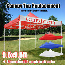 10x10' Ez Up Replacement Canopy Top Patio Pavilion Gazebo Sunshade Cover