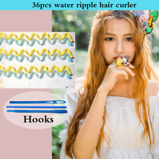 36pcs Water Wave Magic Curlers Formers Leverage Spiral Hairdressing Tool 55-65cm