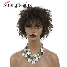 Short Black Kinky Curly Wig Synthetic Afro Curly Hair Wigs for Black Women