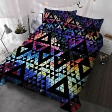Colorful Bedding Set Geometric Comforter Cover Watercolor Galaxy Luxury Bed Set