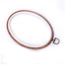 Wood Look Plastic Frame Embroidery Hoop Ring Round Loop For Cross Stitch Craft