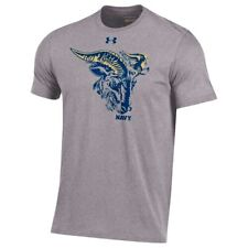 Under Armour Navy Midshipmen Heather Gray Rivalry Game Charged Cotton T-Shirt
