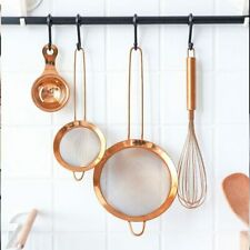 Stainless Steel Kitchen Handheld Screen Mesh Strainer Rose Gold Flour Sieve Cook