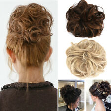 US Curly Messy Bun Hair Piece Scrunchie Updo Fake Hair Extensions Donut Styling