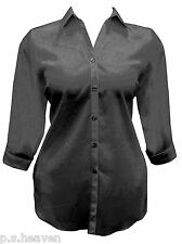FAB, NEW BLACK SHIRT / BLOUSE - 16,18,20,22,24,26,28/30,32  WOMENS PLUS SIZE