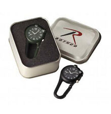Clip Watch with LED Light- Choice of Black or Olive