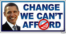 Anti-Obama CHANGE WE CAN'T AFFORD T-SHIRT IRON-ONs