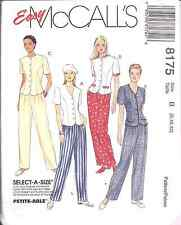 8175 McCalls SEWING Pattern Misses Princess Seamed Top Pull on Pants EASY UNCUT