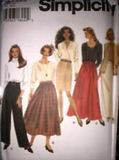 9890 UNCUT Simplicity SEWING Pattern Misses 6 Gore Flared Skirt Pants FF