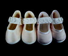 Sarah Louise England Mary Jane Girls Christening Shoes Size 1-3 Ivory or White