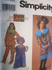7367 UNCUT Simplicity SEWING Pattern Girls Afrikan Dress Top Pants Hat by Shanti