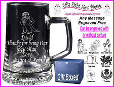 Personalised Glass Tankard Page Boy Gift - Boxed
