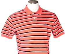 Ralph Lauren Red & Navy Stripe Short Sleeve Polo Shirt Blue Polo Pony Mens NWT