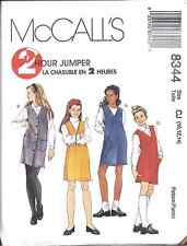 8344 UNCUT Vintage McCalls Pattern Girls 2 Hour Pullover Jumper SEWING Plus Size