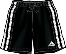 ADIDAS EUROPE ADULT SOCCER SHORTS (712767) BLACK/WHITE