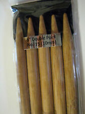 BAMBOO Double Pointed Knitting Needles Size 1-15 6 inch