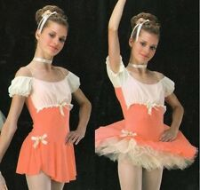 FAIR MAIDEN 2in1 Tap Dress & Ballet Tutu Ice Skating Dance Costume Child & Adult
