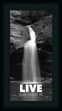 Live Dive Right In by John Jones Motivational Sign 8x16 Framed Art Print Picture