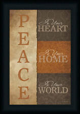 Peace In Your Heart by Lauren Rader Sign 12x18 Framed Art Print Picture