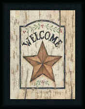 Welcome Star by Linda Spivey Country Sign 12x16 Framed Art Print Picture